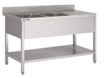 1200mm Wide Double Bowl Sink